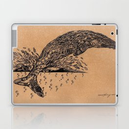 rubbish whale coffee ink Laptop & iPad Skin