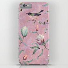 Bird on spring flowers Slim Case iPhone 6s Plus