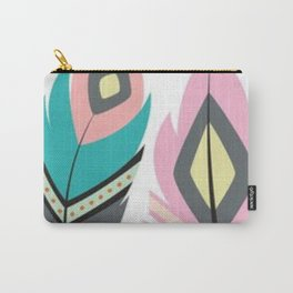 2 Feathers Carry-All Pouch