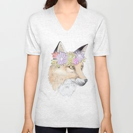 the Fox and the Filter Unisex V-Neck
