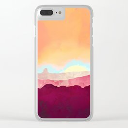 Scarlet Desert Clear iPhone Case