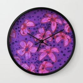 Predatory Petals Wall Clock