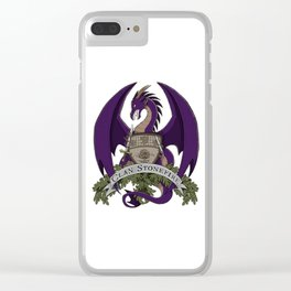 Clan Stonefire Crest - Purple Dragon Clear iPhone Case