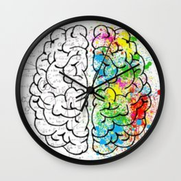 Logic vs Creativity Wall Clock