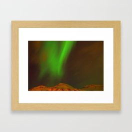 Beautiful northern lights Framed Art Print