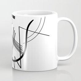 Kandinsky - Black and White Abstract Art Coffee Mug