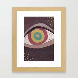 Right in the eye Framed Art Print