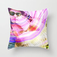 jenna kutcher Throw Pillows featuring James and Jenna by Karl Doerrer-Attaway