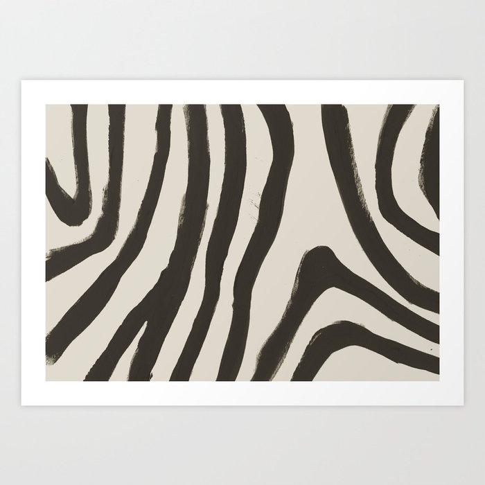Painted Zebra Kunstdrucke