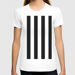 Black & White Vertical Stripes - Mix & Match with Simplicity of Life T-shirt