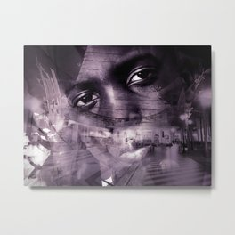 """""""Journey Of The Mind: Blk & Wht"""" Metal Print"""