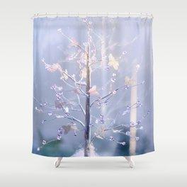 BUTTERFLIES AND BEADS Shower Curtain