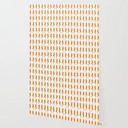 Orange Bold Mod GoGo Girls Wallpaper