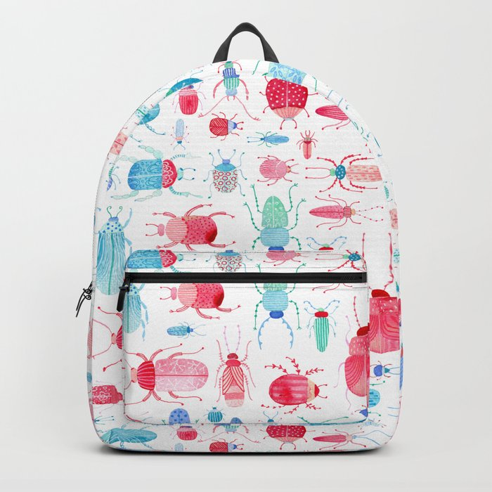 Watercolor Beetles Backpack