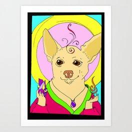 Zen Chihuahua Art Print