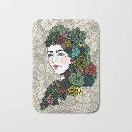 Lady Succulent Bath Mat