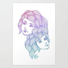 Two Heads are Better Than One Art Print