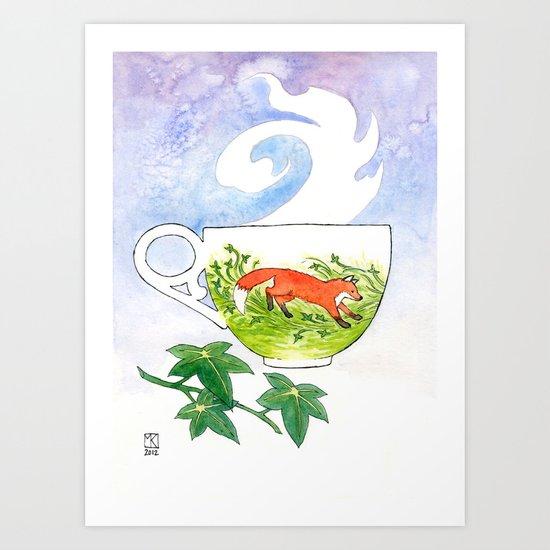 Fox Cup Art Print