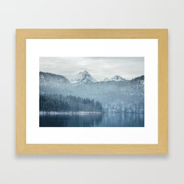 Lake and mountains - Bavarian Alps Framed Art Print