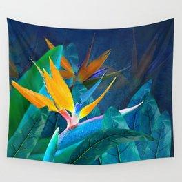 Bird of Paradise Under a Hawaiian Moon Wall Tapestry