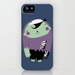 smiling cute zombie iPhone Case