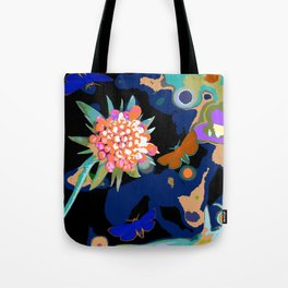 Moths and flowers Tote Bag