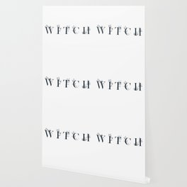 WITCH - floral typography design Wallpaper