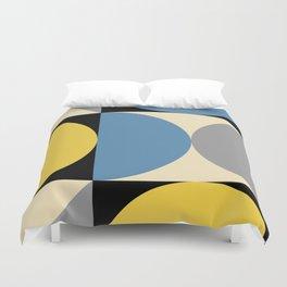Mid Century Modern Geometric Abstract 240 Duvet Cover