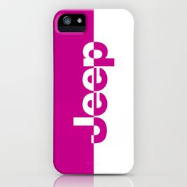 Jeep 'LOGO' HOTPINK iPhone Case