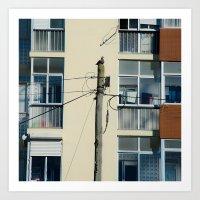 pigeon Art Prints featuring Pigeon by Sébastien BOUVIER
