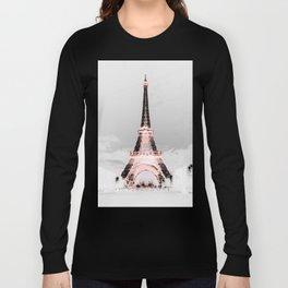 pariS Black & White + Pink Long Sleeve T-shirt