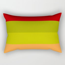 Warm Bright Autumn Leaves - Color Therapy Rectangular Pillow