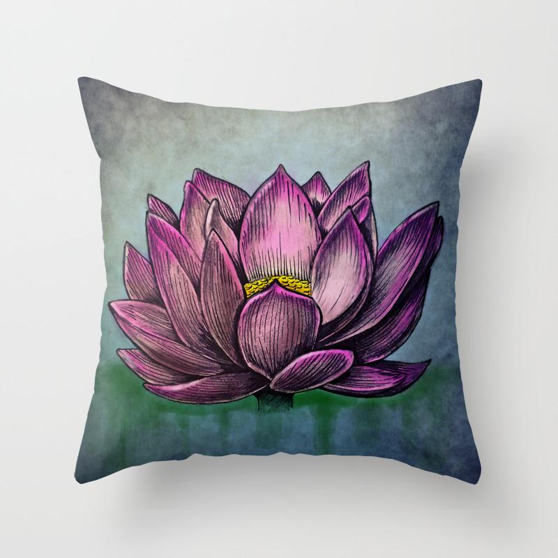 Lotus Flower Throw Pillow By Werkofart Society6