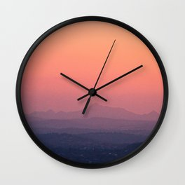 Sunset over Mount Coot-tha Wall Clock