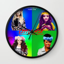 Flower crowns Wall Clock