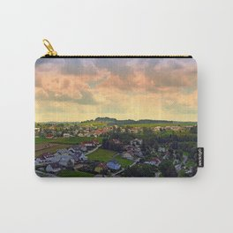 Beautiful village skyline beyond cloudy sky | landscape photography Carry-All Pouch