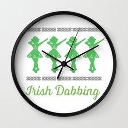 Awesome Dabbing Irish Dancer for Irish dancing girls Wall Clock