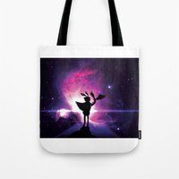 universe Tote Bags featuring Universe by Lunzury
