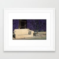 outdoor Framed Art Prints featuring Outdoor Seating by Tamara Lynn Photography