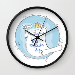 Congratulation Illustration Wall Clock