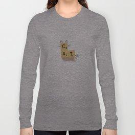 Cat Scrabble Long Sleeve T-shirt