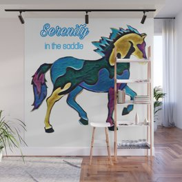 Serenity Horse Stained Glass Type Look Wall Mural