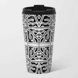 Dark Oriental Ornate Pattern Travel Mug