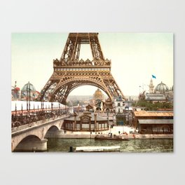 The Exposition Universelle - 1900 - Eiffel Tower Canvas Print
