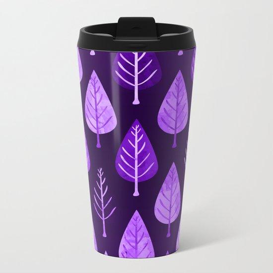 Leaf pattern II Metal Travel Mug