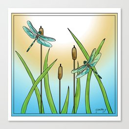 Dragonflies Fly Canvas Print