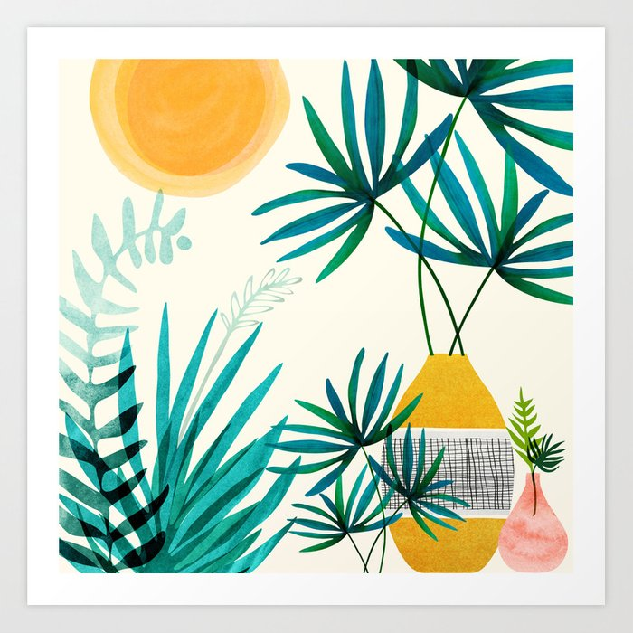 Moroccan Garden / Whimsical Landscape Art Print