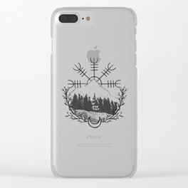 Helm Of Awe Clear iPhone Case