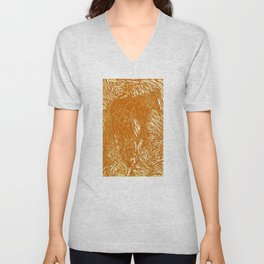 Abstract Buford Charging Unisex V-Neck
