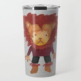 Lion Jungle Friends Baby Animal Water Color Travel Mug